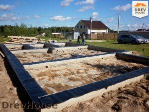 Строительство дома из бруса в СНТ Маслово   фаза 5