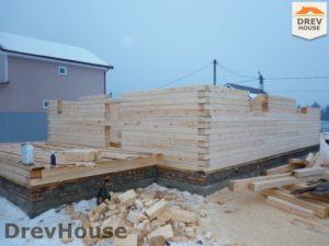 Строительство дома из бруса в СНТ Маслово   фаза 6