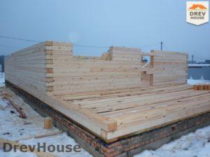 Строительство дома из бруса в СНТ Маслово   фаза 7