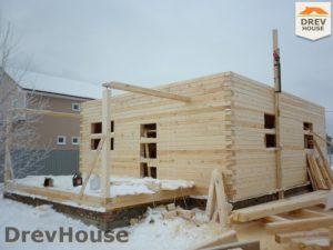 Строительство дома из бруса в СНТ Маслово   фаза 8