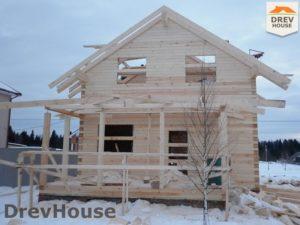 Строительство дома из бруса в СНТ Маслово   фаза 9