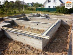 Строительство дома из бруса в СНТ Путеец   фаза 1