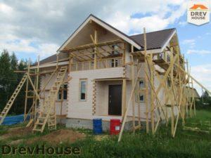 Строительство дома из бруса в СНТ Путеец   фаза 10