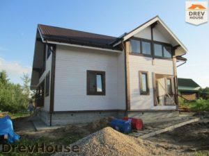 Строительство дома из бруса в СНТ Путеец   фаза 11