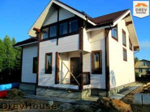 Строительство дома из бруса в СНТ Путеец   фаза 12