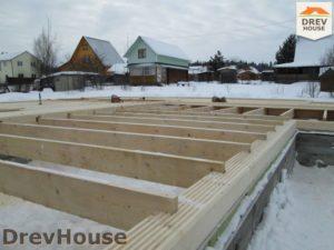 Строительство дома из бруса в СНТ Путеец   фаза 2