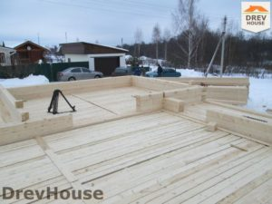 Строительство дома из бруса в СНТ Путеец   фаза 3