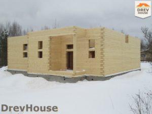 Строительство дома из бруса в СНТ Путеец   фаза 4