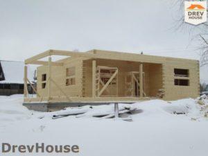 Строительство дома из бруса в СНТ Путеец   фаза 5