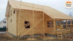 Строительство дома из бруса в СНТ Путеец   фаза 6