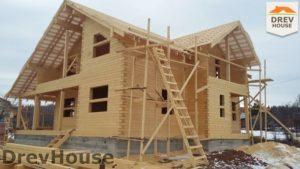 Строительство дома из бруса в СНТ Путеец   фаза 7