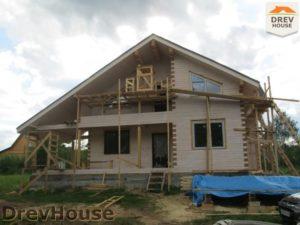 Строительство дома из бруса в СНТ Путеец   фаза 8