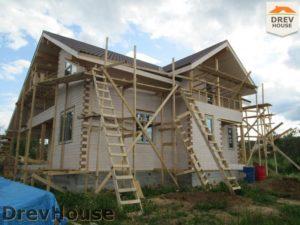 Строительство дома из бруса в СНТ Путеец   фаза 9