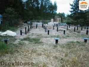 Строительство дома из бруса в деревне Беляево   фаза 1