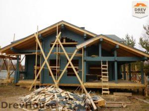 Строительство дома из бруса в деревне Беляево   фаза 10
