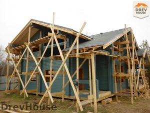 Строительство дома из бруса в деревне Беляево   фаза 11