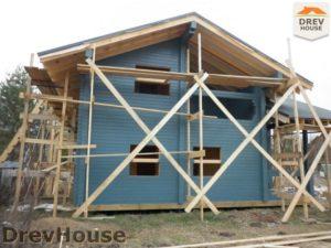 Строительство дома из бруса в деревне Беляево   фаза 12