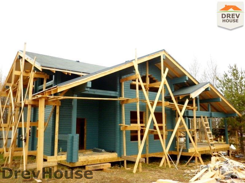 Фоторепортаж строительства дома из бруса в д. Беляево, Чеховский р-н., МО