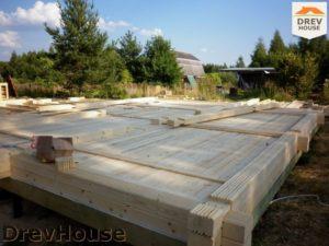 Строительство дома из бруса в деревне Беляево   фаза 2