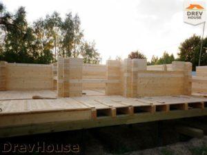 Строительство дома из бруса в деревне Беляево   фаза 3