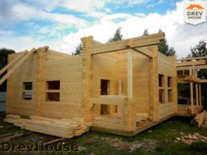 Строительство дома из бруса в деревне Беляево   фаза 4