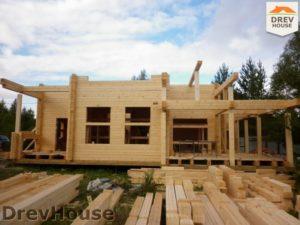 Строительство дома из бруса в деревне Беляево   фаза 5