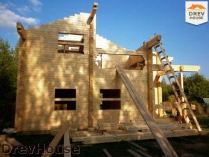 Строительство дома из бруса в деревне Беляево   фаза 6
