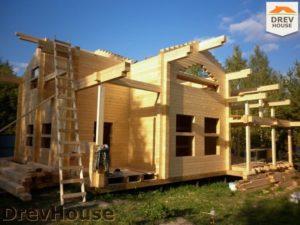Строительство дома из бруса в деревне Беляево   фаза 7