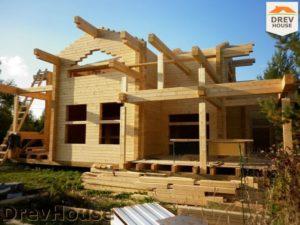 Строительство дома из бруса в деревне Беляево   фаза 8