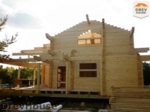 Строительство дома из бруса в деревне Беляево   фаза 9