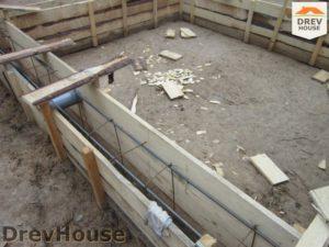 Строительство дома из бруса в деревне Березовое   фаза 1