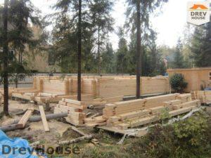 Строительство дома из бруса в деревне Березовое   фаза 10