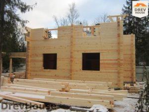 Строительство дома из бруса в деревне Березовое   фаза 11