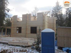 Строительство дома из бруса в деревне Березовое   фаза 12
