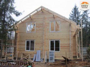 Строительство дома из бруса в деревне Березовое   фаза 13
