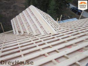 Строительство дома из бруса в деревне Березовое   фаза 14