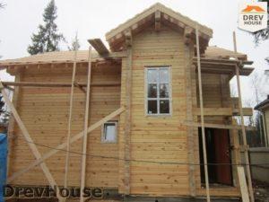 Строительство дома из бруса в деревне Березовое   фаза 15