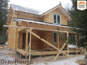 Строительство дома из бруса в деревне Березовое   фаза 16