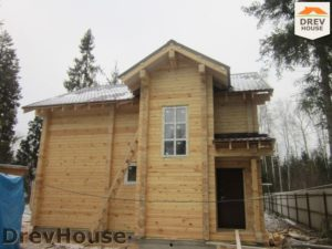 Строительство дома из бруса в деревне Березовое   фаза 17