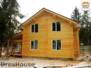 Строительство дома из бруса в деревне Березовое   фаза 18