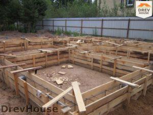 Строительство дома из бруса в деревне Березовое   фаза 2