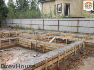 Строительство дома из бруса в деревне Березовое   фаза 3