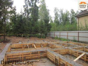 Строительство дома из бруса в деревне Березовое   фаза 4