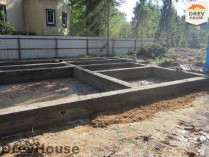 Строительство дома из бруса в деревне Березовое   фаза 5