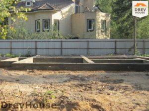 Строительство дома из бруса в деревне Березовое   фаза 6