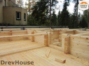 Строительство дома из бруса в деревне Березовое   фаза 7