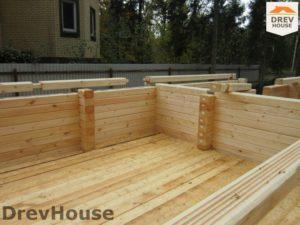 Строительство дома из бруса в деревне Березовое   фаза 8