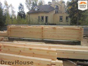 Строительство дома из бруса в деревне Березовое   фаза 9