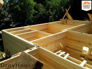 Строительство дома из бруса в деревне Павловское   фаза 1