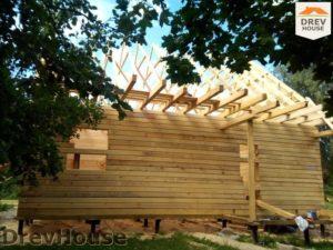 Строительство дома из бруса в деревне Павловское   фаза 11